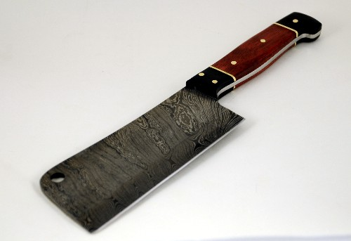 849- Damascus cleaver