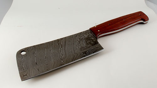 859 - Damascus cleaver