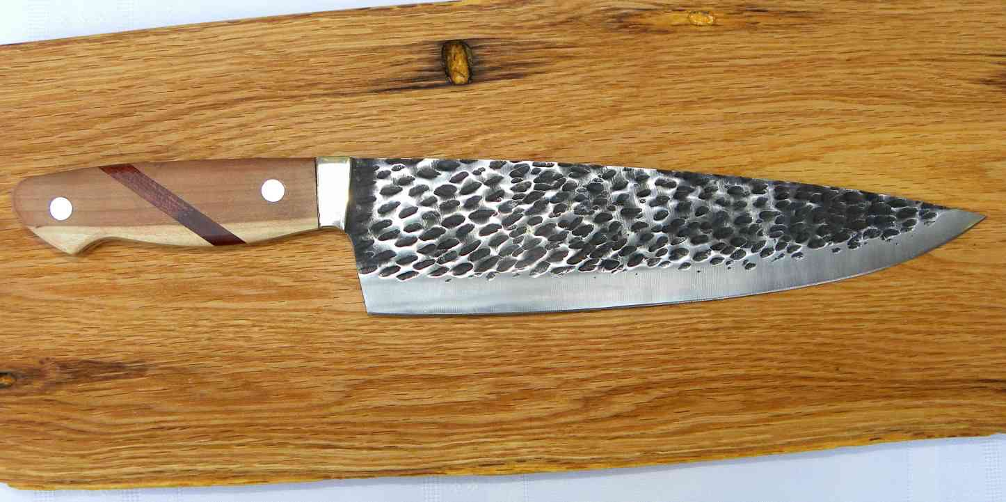 2985 - Chef knife / Hammered Steel Blade