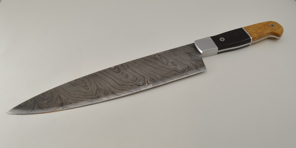 Custom Damascus Chef Knive