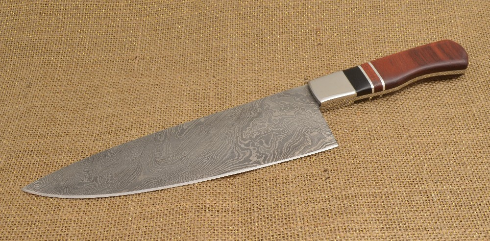 880 - Damascus steel chef knife