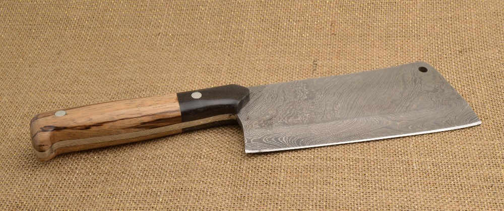 888 - Damascus cleaver