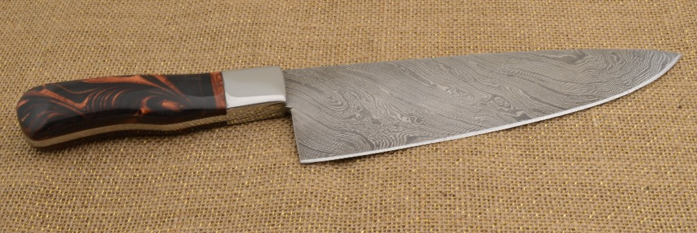 892 - Damascus Chef knife - resin handle