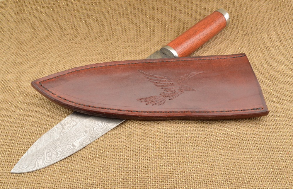 930 - chef knife with eagle sheath