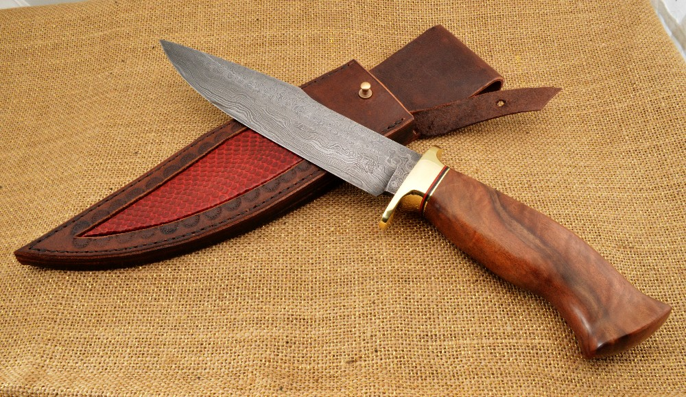 1033 - Damascus Bowie Knife