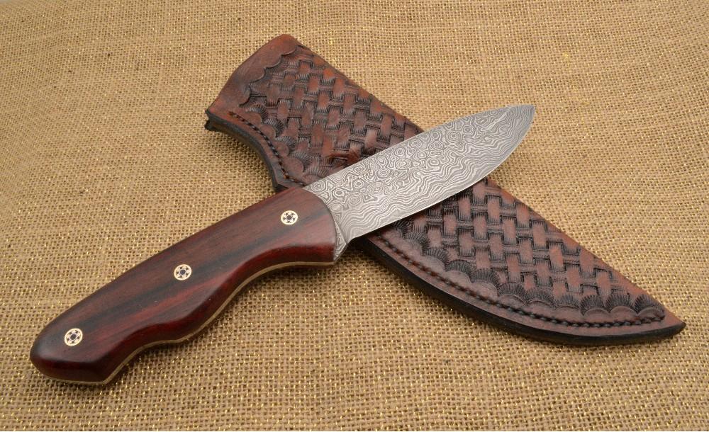 1041 - Damascus Skinner hunting knive